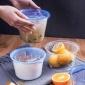一次性打包碗���w定做外�u�A形打包盒加厚快餐�盒��碗透明塑料碗