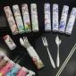 中���L餐具�和� 不�P�餐具套�b 便�y式餐具三件套 叉子勺子筷子