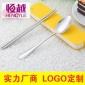 不�P�便�y餐具 二件套 �n式塑料盒 旅行餐具套�b 筷勺�Y品餐具