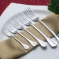 �钤�餐具不�P�刀叉加厚中式��意甜品水果叉酒店用品西餐月�刀叉